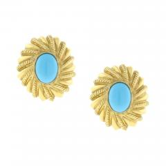 Tiffany and Co Tiffany Co Schlumberger Turquoise Earrings - 1106923