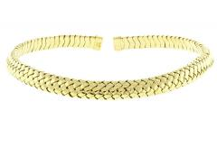 Tiffany and Co Tiffany Co Vannerie Mesh Yellow Gold Necklace Choker - 1425314