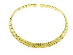 Tiffany and Co Tiffany Co Vannerie Mesh Yellow Gold Necklace Choker - 1425315