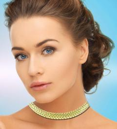 Tiffany and Co Tiffany Co Vannerie Mesh Yellow Gold Necklace Choker - 1425316