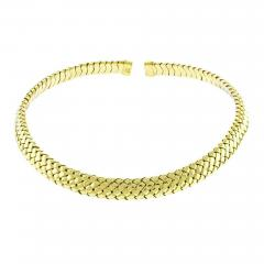 Tiffany and Co Tiffany Co Vannerie Mesh Yellow Gold Necklace Choker - 1426297