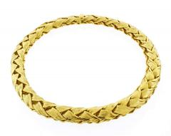 Tiffany and Co Tiffany Co Woven Wide Gold Necklace - 1425179
