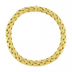 Tiffany and Co Tiffany Co Woven Wide Gold Necklace - 1426291