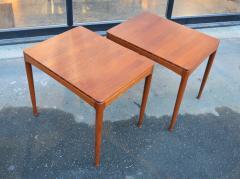 Tingstroms Stunning Pair of Solid Teak Micado Side Tables by Tingstroms - 2133681