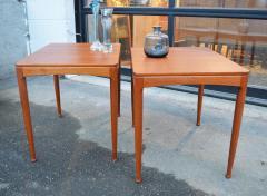 Tingstroms Stunning Pair of Solid Teak Micado Side Tables by Tingstroms - 2133716
