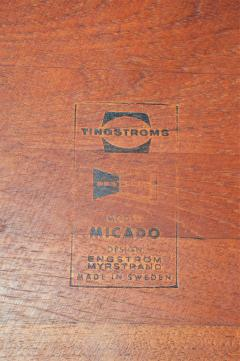 Tingstroms Stunning Pair of Solid Teak Micado Side Tables by Tingstroms - 2133723