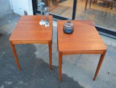 Tingstroms Stunning Pair of Solid Teak Micado Side Tables by Tingstroms - 2133738