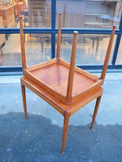 Tingstroms Stunning Pair of Solid Teak Micado Side Tables by Tingstroms - 2133741