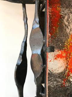 Tom Ahlstr m Hans Ehrich Pair of Brutalist Sconces Iron Murano Glass by Ahlstrom and Helrich 1970s - 898245