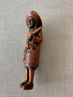 Tomotada Japanese Antique Netsuke of A Dutchman Signed Tomotada - 1119308