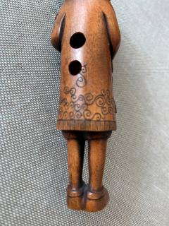 Tomotada Japanese Antique Netsuke of A Dutchman Signed Tomotada - 1119311