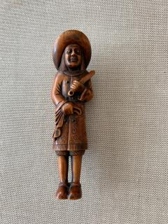 Tomotada Japanese Antique Netsuke of A Dutchman Signed Tomotada - 1119319