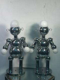 Torino Lamp Co GREAT PAIR OF MODERNIST CHROME ROBOT LAMPS BY TORINO - 678947