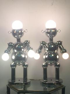 Torino Lamp Co GREAT PAIR OF MODERNIST CHROME ROBOT LAMPS BY TORINO - 678952