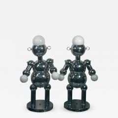 Torino Lamp Co GREAT PAIR OF MODERNIST CHROME ROBOT LAMPS BY TORINO - 679605