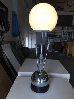Torino Lamp Co Space Age Chrome Ball Table Lamp w Fours lights Attributed to Torino - 1348179
