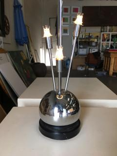 Torino Lamp Co Space Age Chrome Ball Table Lamp w Fours lights Attributed to Torino - 1348185