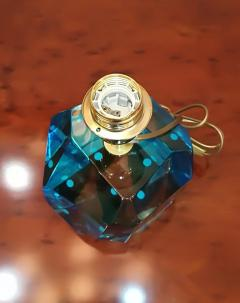 Toso Blue Crystal Faceted Table Lamp by Toso - 1109179