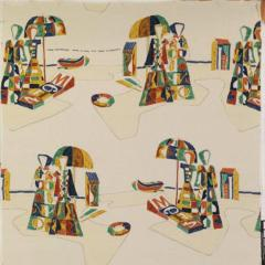 Tre 80 Gio Ponti designed Legge Mediterranea fabric by Tre 80 - 768506