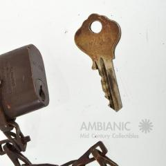 United States Navy Antique Brass Lock for USN with Key and Chain - 369852