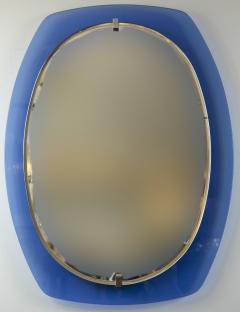 VECA Mid Century Klein Blue Mirror by Veca - 890123