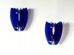 VECA Pair of Sconces by Veca Milano in Cobalt Blue Italy 1970 - 769824