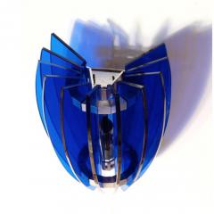 VECA Pair of Sconces by Veca Milano in Cobalt Blue Italy 1970 - 769825