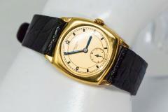 Vacheron Constantin 18 Karat Yellow Gold Vacheron Constantin Sector Dial Officers Cushion Wristwatch - 1327522