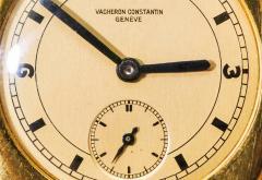 Vacheron Constantin 18 Karat Yellow Gold Vacheron Constantin Sector Dial Officers Cushion Wristwatch - 1327530
