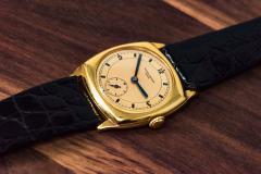 Vacheron Constantin 18 Karat Yellow Gold Vacheron Constantin Sector Dial Officers Cushion Wristwatch - 1327532
