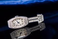 Vacheron Constantin 1920s Platinum Art Deco Vacheron Constantin Diamond Set Lapel or Necklace Watch - 1098081