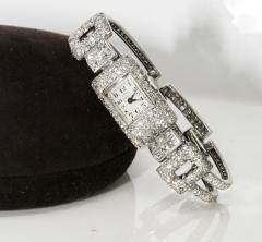 Vacheron Constantin 1920s Vacheron Constantin Platinum 20 Carat Diamond Cuff Bracelet Watch - 867715