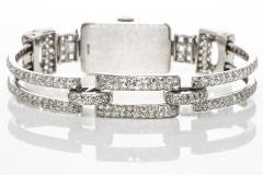 Vacheron Constantin 1920s Vacheron Constantin Platinum 20 Carat Diamond Cuff Bracelet Watch - 867718