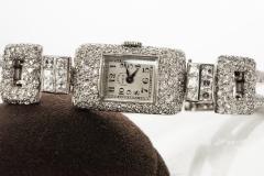Vacheron Constantin 1920s Vacheron Constantin Platinum 20 Carat Diamond Cuff Bracelet Watch - 867719