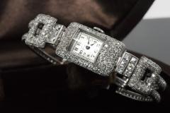 Vacheron Constantin 1920s Vacheron Constantin Platinum 20 Carat Diamond Cuff Bracelet Watch - 867720