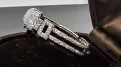 Vacheron Constantin 1920s Vacheron Constantin Platinum 20 Carat Diamond Cuff Bracelet Watch - 867721