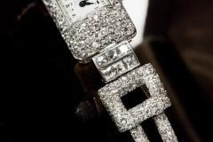 Vacheron Constantin 1920s Vacheron Constantin Platinum 20 Carat Diamond Cuff Bracelet Watch - 867722