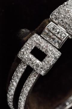 Vacheron Constantin 1920s Vacheron Constantin Platinum 20 Carat Diamond Cuff Bracelet Watch - 867723
