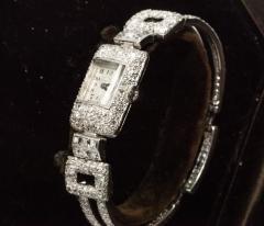 Vacheron Constantin 1920s Vacheron Constantin Platinum 20 Carat Diamond Cuff Bracelet Watch - 867725