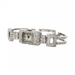 Vacheron Constantin 1920s Vacheron Constantin Platinum 20 Carat Diamond Cuff Bracelet Watch - 868861