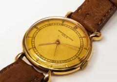 Vacheron Constantin 1940s Vacheron Constantin Lemon Dial 18kt Yg Tear Drop Lugs Wristwatch - 867742