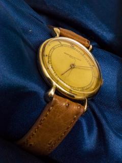Vacheron Constantin 1940s Vacheron Constantin Lemon Dial 18kt Yg Tear Drop Lugs Wristwatch - 867745
