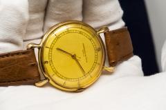 Vacheron Constantin 1940s Vacheron Constantin Lemon Dial 18kt Yg Tear Drop Lugs Wristwatch - 867746