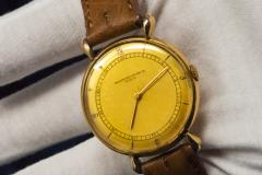 Vacheron Constantin 1940s Vacheron Constantin Lemon Dial 18kt Yg Tear Drop Lugs Wristwatch - 867751