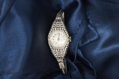 Vacheron Constantin Rare 1900s Vacheron Constantin Lozenge Prototype Platinum Diamond Set Watch - 439956