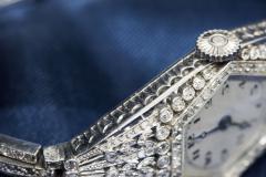Vacheron Constantin Rare 1900s Vacheron Constantin Lozenge Prototype Platinum Diamond Set Watch - 439958