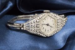 Vacheron Constantin Rare 1900s Vacheron Constantin Lozenge Prototype Platinum Diamond Set Watch - 439959