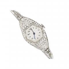 Vacheron Constantin Rare 1900s Vacheron Constantin Lozenge Prototype Platinum Diamond Set Watch - 440085
