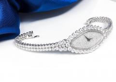 Vacheron Constantin Rare 30carat 42mm Vacheron Constantin White Gold Diamond Lozenge Wristwatch - 1424890