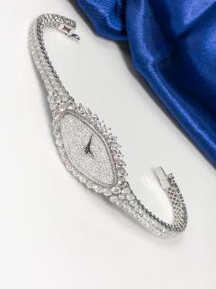 Vacheron Constantin Rare 30carat 42mm Vacheron Constantin White Gold Diamond Lozenge Wristwatch - 1424892